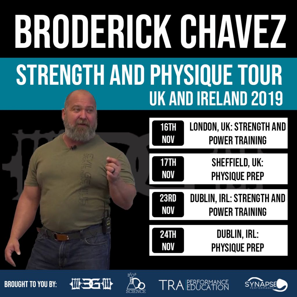 Broderick Chavez: Strength Training and Physique Tour - TRA